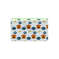Bone House Face Dog Cosmetic Bag (xs) by Mariart
