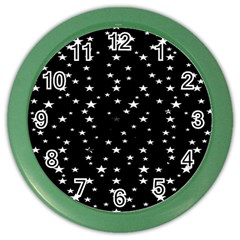 Black Star Space Color Wall Clocks