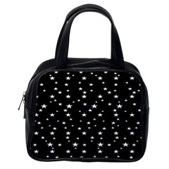 Black Star Space Classic Handbags (one Side) by Mariart