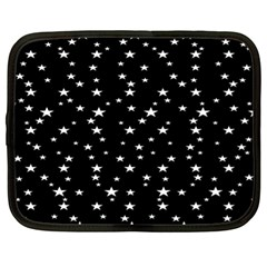 Black Star Space Netbook Case (xl)  by Mariart
