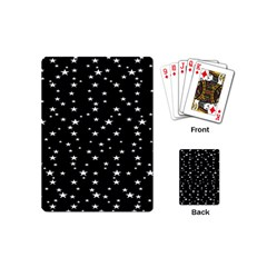 Black Star Space Playing Cards (mini)  by Mariart