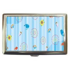 Animals Whale Sunflower Ship Flower Floral Sea Beach Blue Fish Cigarette Money Cases by Mariart