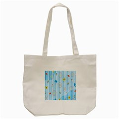 Animals Whale Sunflower Ship Flower Floral Sea Beach Blue Fish Tote Bag (cream) by Mariart