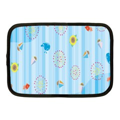 Animals Whale Sunflower Ship Flower Floral Sea Beach Blue Fish Netbook Case (medium)  by Mariart