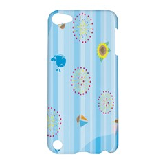 Animals Whale Sunflower Ship Flower Floral Sea Beach Blue Fish Apple Ipod Touch 5 Hardshell Case by Mariart