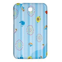 Animals Whale Sunflower Ship Flower Floral Sea Beach Blue Fish Samsung Galaxy Tab 3 (7 ) P3200 Hardshell Case  by Mariart