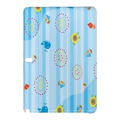 Animals Whale Sunflower Ship Flower Floral Sea Beach Blue Fish Samsung Galaxy Tab Pro 12 2 Hardshell Case by Mariart