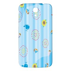 Animals Whale Sunflower Ship Flower Floral Sea Beach Blue Fish Samsung Galaxy Mega I9200 Hardshell Back Case