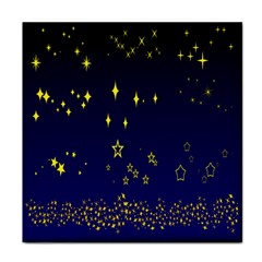 Blue Star Space Galaxy Light Night Tile Coasters by Mariart