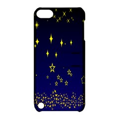 Blue Star Space Galaxy Light Night Apple Ipod Touch 5 Hardshell Case With Stand by Mariart
