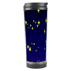 Blue Star Space Galaxy Light Night Travel Tumbler by Mariart