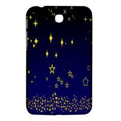 Blue Star Space Galaxy Light Night Samsung Galaxy Tab 3 (7 ) P3200 Hardshell Case  by Mariart