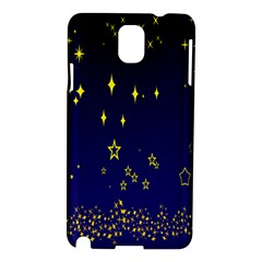 Blue Star Space Galaxy Light Night Samsung Galaxy Note 3 N9005 Hardshell Case by Mariart