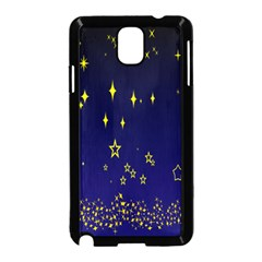 Blue Star Space Galaxy Light Night Samsung Galaxy Note 3 Neo Hardshell Case (black) by Mariart