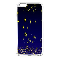 Blue Star Space Galaxy Light Night Apple Iphone 6 Plus/6s Plus Enamel White Case by Mariart