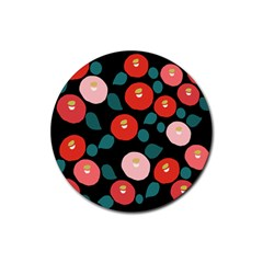 Candy Sugar Red Pink Blue Black Circle Rubber Coaster (round)  by Mariart