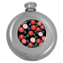 Candy Sugar Red Pink Blue Black Circle Round Hip Flask (5 Oz) by Mariart