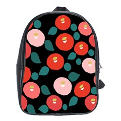 Candy Sugar Red Pink Blue Black Circle School Bags(large)