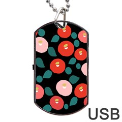 Candy Sugar Red Pink Blue Black Circle Dog Tag Usb Flash (two Sides) by Mariart