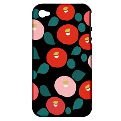 Candy Sugar Red Pink Blue Black Circle Apple Iphone 4/4s Hardshell Case (pc+silicone) by Mariart