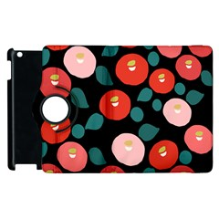 Candy Sugar Red Pink Blue Black Circle Apple Ipad 3/4 Flip 360 Case by Mariart