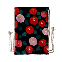 Candy Sugar Red Pink Blue Black Circle Drawstring Bag (small) by Mariart