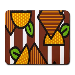 Chocolate Lime Brown Circle Line Plaid Polka Dot Orange Green White Large Mousepads by Mariart