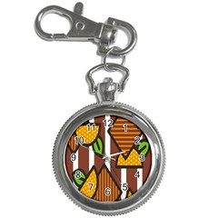 Chocolate Lime Brown Circle Line Plaid Polka Dot Orange Green White Key Chain Watches by Mariart