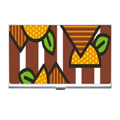 Chocolate Lime Brown Circle Line Plaid Polka Dot Orange Green White Business Card Holders by Mariart
