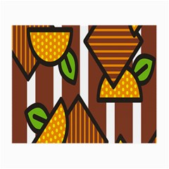 Chocolate Lime Brown Circle Line Plaid Polka Dot Orange Green White Small Glasses Cloth (2 Side) by Mariart
