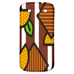Chocolate Lime Brown Circle Line Plaid Polka Dot Orange Green White Samsung Galaxy S3 S Iii Classic Hardshell Back Case by Mariart