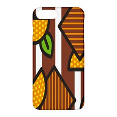 Chocolate Lime Brown Circle Line Plaid Polka Dot Orange Green White Apple Iphone 7 Plus Hardshell Case by Mariart