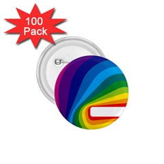 Circle Rainbow Color Hole Rasta Waves 1 75  Buttons (100 Pack)  by Mariart
