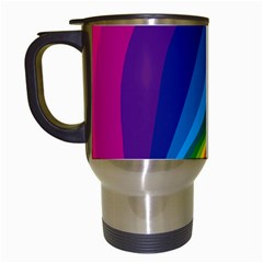 Circle Rainbow Color Hole Rasta Waves Travel Mugs (white) by Mariart