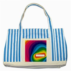 Circle Rainbow Color Hole Rasta Waves Striped Blue Tote Bag by Mariart