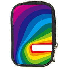 Circle Rainbow Color Hole Rasta Waves Compact Camera Cases