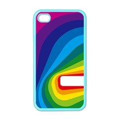 Circle Rainbow Color Hole Rasta Waves Apple Iphone 4 Case (color) by Mariart