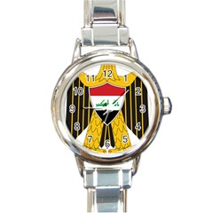 Coat Of Arms Of Iraq  Round Italian Charm Watch by abbeyz71
