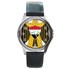 Coat Of Arms Of Iraq  Round Metal Watch by abbeyz71