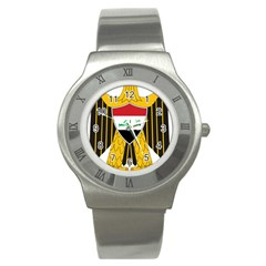 Coat Of Arms Of Iraq  Stainless Steel Watch by abbeyz71