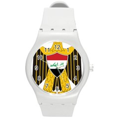 Coat Of Arms Of Iraq  Round Plastic Sport Watch (m) by abbeyz71