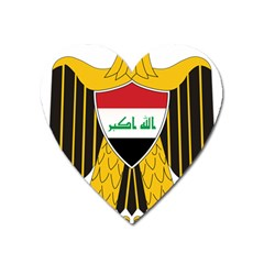 Coat Of Arms Of Iraq  Heart Magnet by abbeyz71