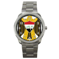 Coat Of Arms Of Iraq  Sport Metal Watch by abbeyz71