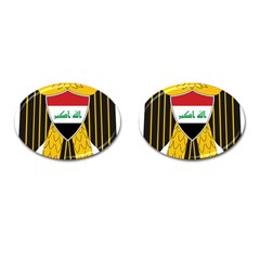 Coat Of Arms Of Iraq  Cufflinks (oval) by abbeyz71