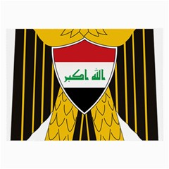 Coat Of Arms Of Iraq  Large Glasses Cloth (2 Side) by abbeyz71