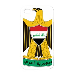 Coat Of Arms Of Iraq  Apple Iphone 4 Case (white) by abbeyz71