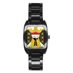 Coat Of Arms Of Iraq  Stainless Steel Barrel Watch by abbeyz71