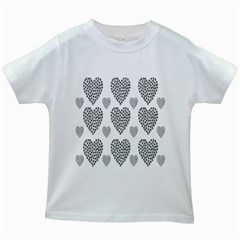 Black Paw Hearts Love Animals Kids White T Shirts by Mariart