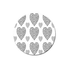 Black Paw Hearts Love Animals Magnet 3  (round) by Mariart