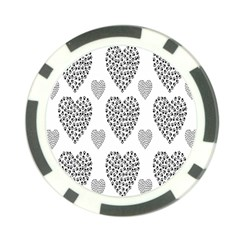 Black Paw Hearts Love Animals Poker Chip Card Guard